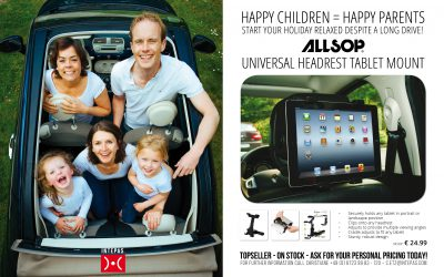MAILING CW19 – ALLSOP HEADREST TABLET MOUNT